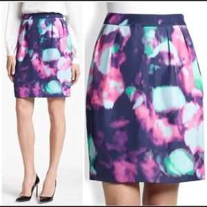 Kate Spade Barry Abstract Watercolor Tie Dye Skirt